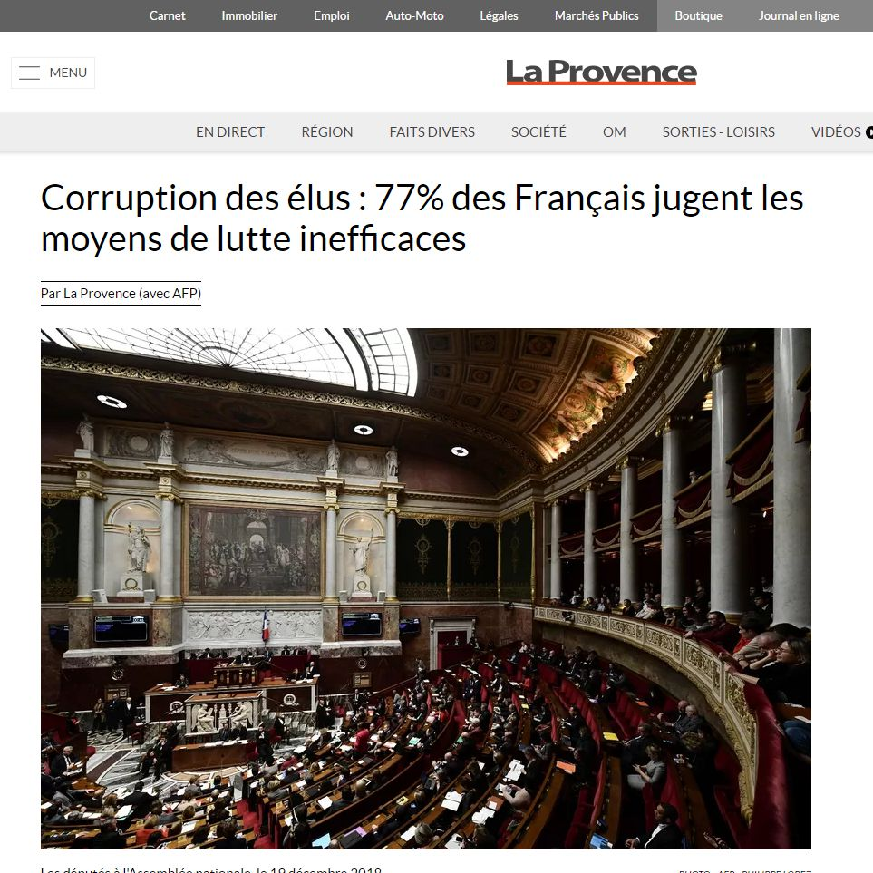 Corruption élus
