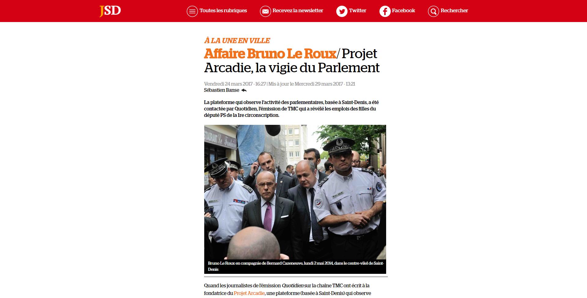 Le JSD, Le Roux et Projet Arcadie