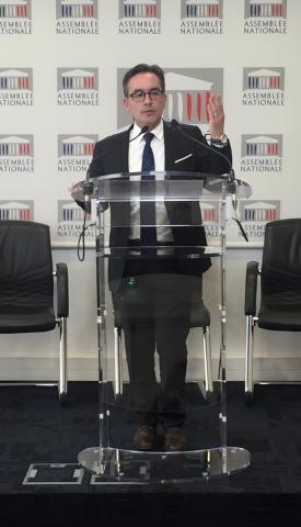 Laurent Garcia en conférence de presse