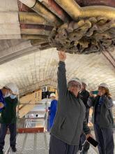 Anne Brugnera sous les voûtes de Notre-Dame